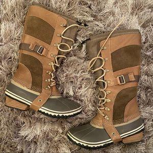 Sorel British Tan Conquest Carly Boot